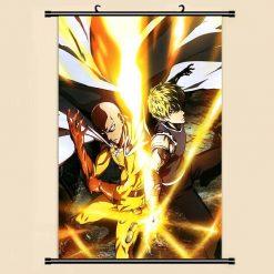 Poster One Punch Man Saitama Genos action