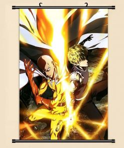 Poster One Punch Man Saitama Genos action